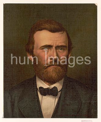 Ulysses S. Grant, bust portrait, facing right, wearing suit