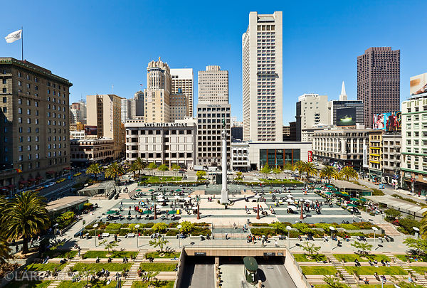 Wide view of Union Square, San Francisco, USA