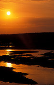 Sunset over the Olifants river, Kruger National Park, South Africa