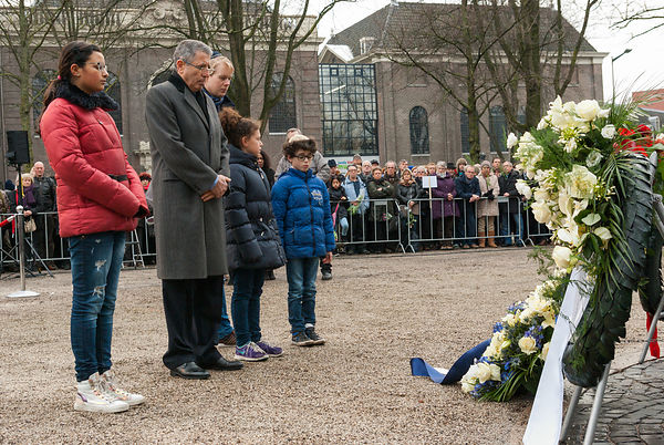 Ambassador of Israel to the Netherlands pays his respect.