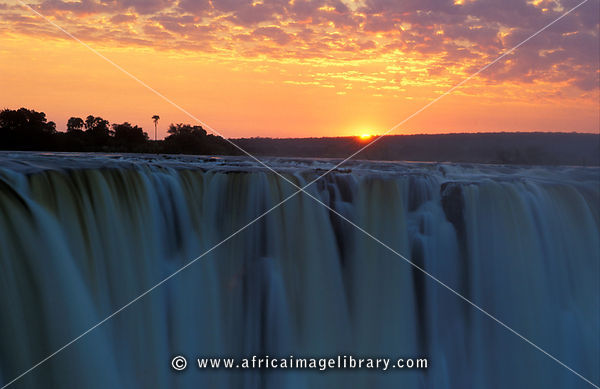 Victoria Falls at sunrise, Victoria Falls National Park, Zimbabwe