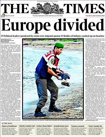 drowned-migrant-boy-the-times-front-page