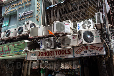 Air conditioners in Mumbai apartments. In India's largest city residents wither under oppressive heat and humidity.  The city...