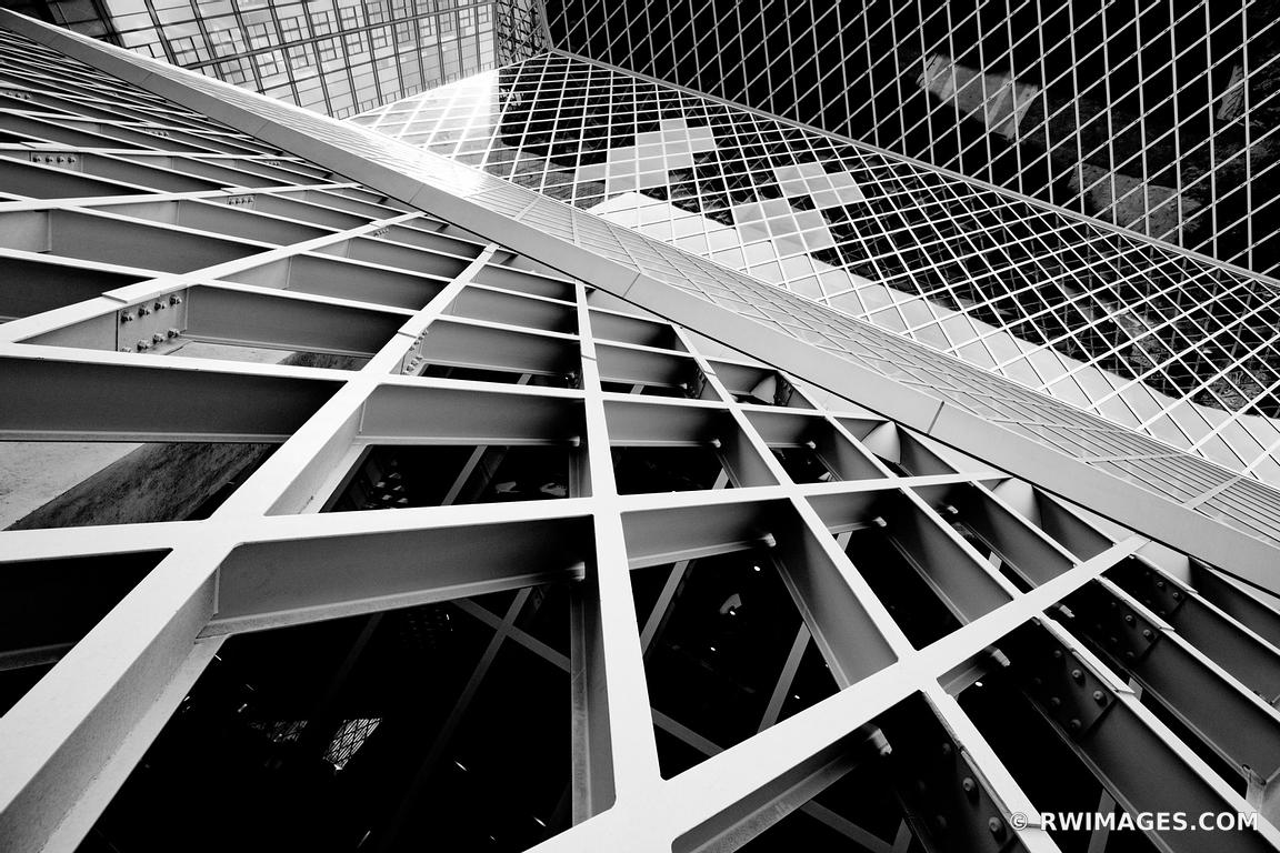 ATTLE PUBLIC LIBRARY MODERN ARCHITECTURE SEATTLE WASHINGTON BLACK AND WHITE