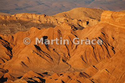 Valley of the Moon (Vallee de la Luna), Atacama, as the sun is setting