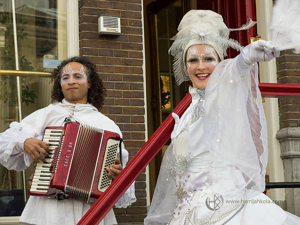 Netherlands - Amsterdam (Street Performers - On The Stairs)