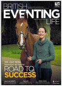 Willa Newton and CAJA 20 for the front cover of British Eventing Life