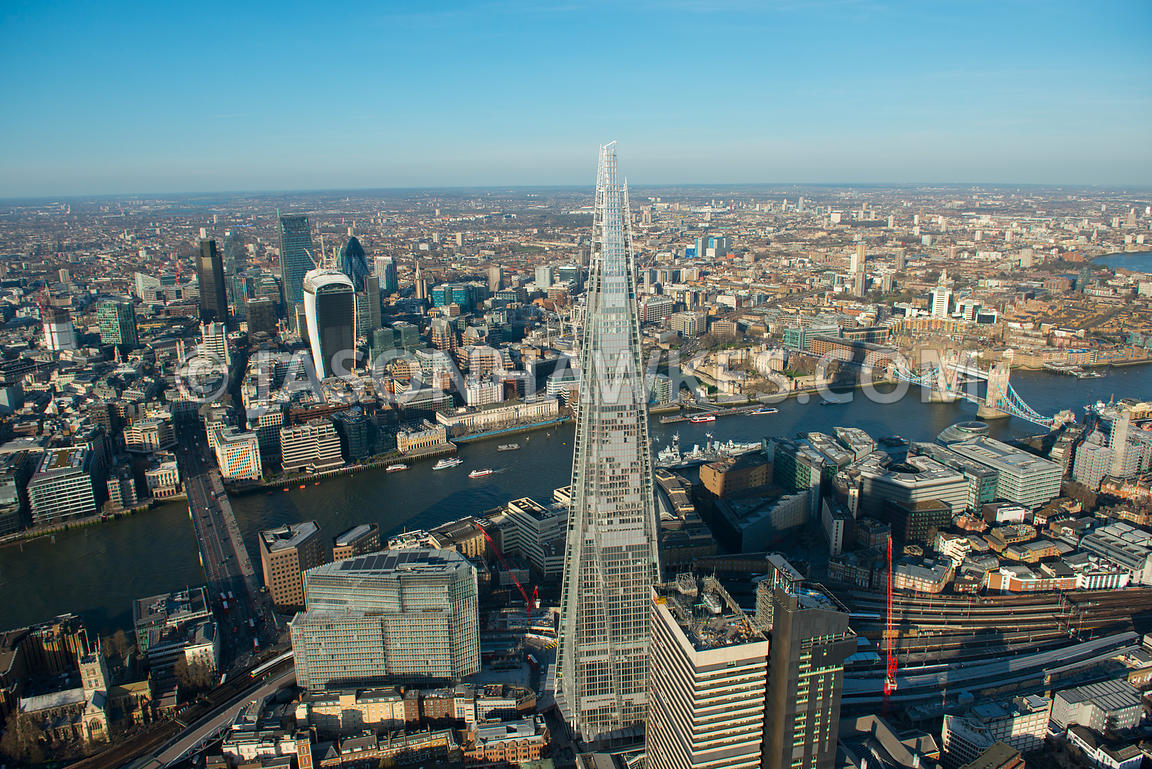 Aerial view of The Shard, London