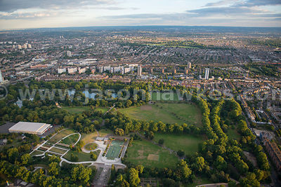 London. Aerial view of Battersea Park