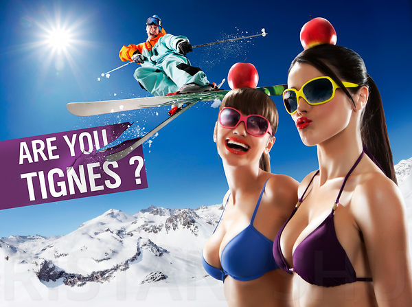 Tignes communication campaign 2010 - Cutting the apples