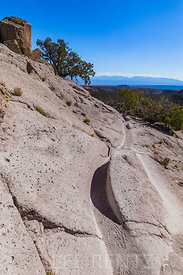 Trail Worn through Volcanic Tuff in Bandelier National Monument