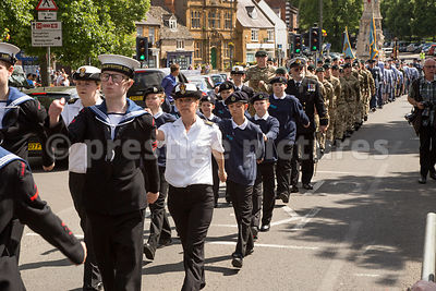 Forces parade along Horsefair Banbury