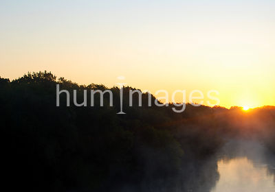 Sunrise over the Trinity River in Irvingt, Texas