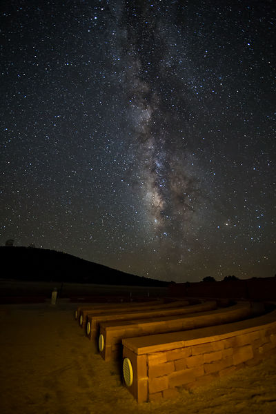 Amphitheater and Milky Way