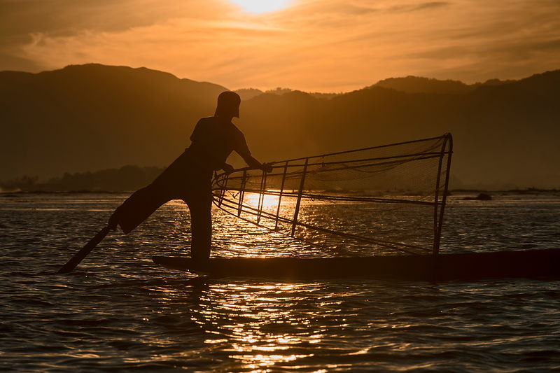 Lake Inle fishermen