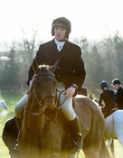 Rory Bevin At the meet. The Cottesmore Hunt at Hill Top Farm 11/12
