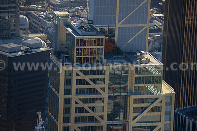 Aerial view of the Heron Tower roof top, London