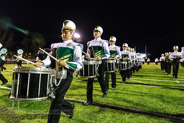 P-C Iowa City West Marching Band Uniforms, October 3, 2014