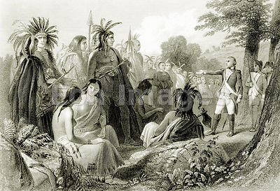 John Burgoyne with Native Americans