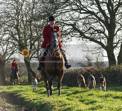 Huntsman John Holliday - The Belvoir Hunt at Long Clawson, 15/12/12