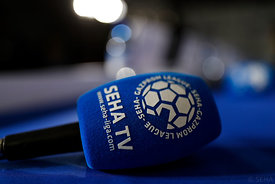 SEHA TV during the Final Tournament - Final Four - SEHA - Gazprom league, Press conference in Brest, Belarus, 06.04.2017, Man...