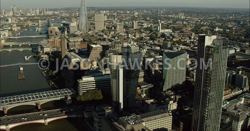 London Aerial Footage of 1 Blackfriars Road under construction