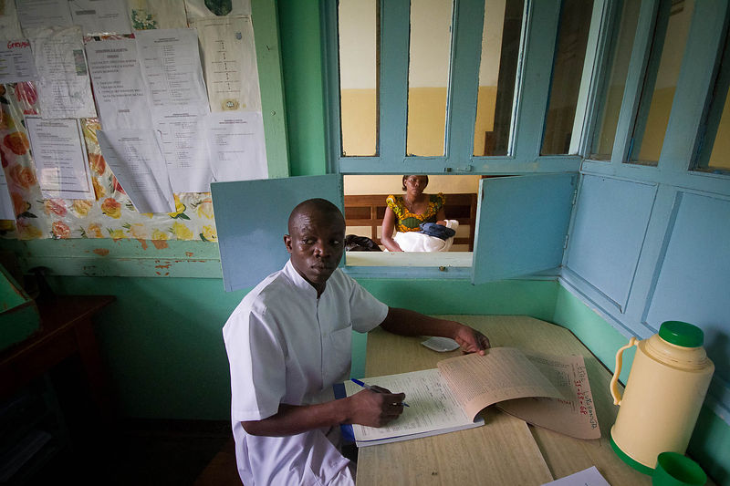 Post-natal clinic, Segerema Hospital, northern Tanzania.