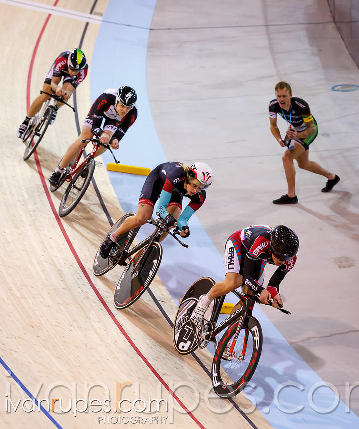 Men's team pursuit qualification. Milton International Challenge, January 9, 2015