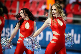 Cheerleaders during the EHF EURO Croatia 2018 - Preliminary round -  Group B - Norway vs Austria in Zatika Sports Centre, Por...