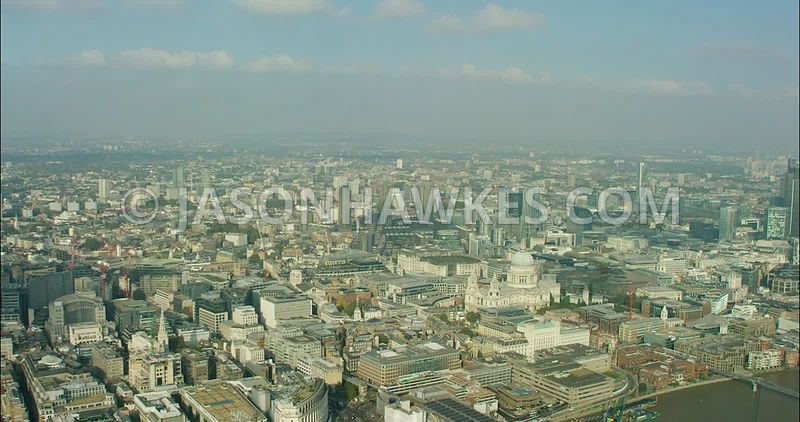 London Aerial Footage St Paul's Cathedral.