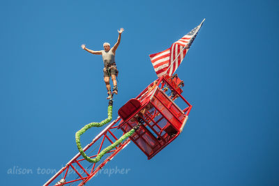 Bungee jumping at the State Fair
