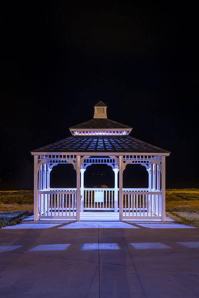 Fulton Convention Center Gazebo at Night