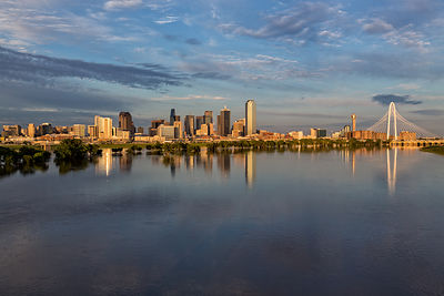 Skyline Reflections in Evening Light