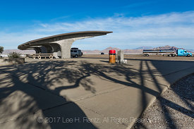 Futuristic Structure at the Wendover Salt Flats Rest Area