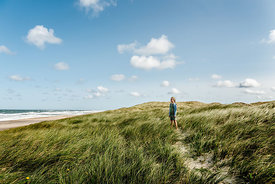 Danish girl playing in the dunes in Thy 4