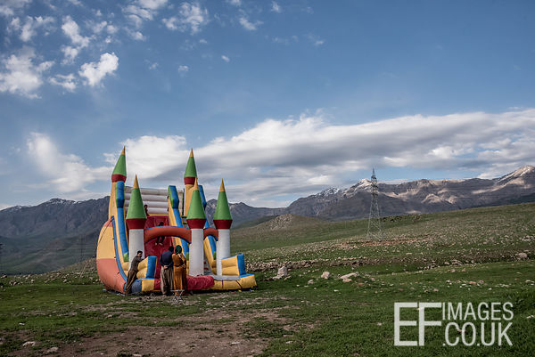 A Kurdish Family Picnic Favourite - The Bouncy Castle