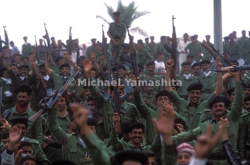 Annual celebration of Saddam Hussein's birthday. Tikrit, Iraq.