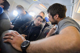 Ivan Cupic and Zlatko Horvat during the Final Tournament - Final Four - SEHA - Gazprom league, Team arrival in Brest, Belarus...