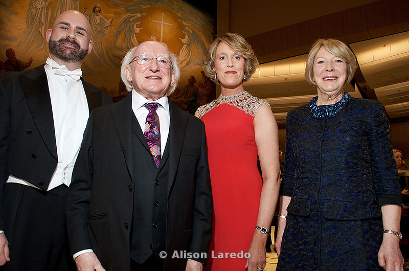 The President of Ireland, Michael D. Higgins and Sabina Higgins at the Concert for Peace, Knock Basilica, Saturday May 14th, ...