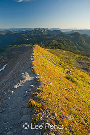 Trail leading along the Railroad Grade lateral moraine created by the Easton Glacier on the slopes of Mt. Baker, Mt. Baker–Sn...