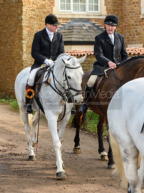 David Applewhite arriving at the meet. The Belvoir Hunt at Springfield Farm 23/2