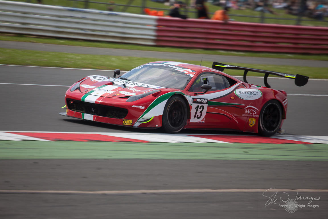 Skw Images The Af Corse Ferrari 458 Italia Gt3 Team In Action At The Silverstone 500 The Third Round Of The British Gt Championship 20