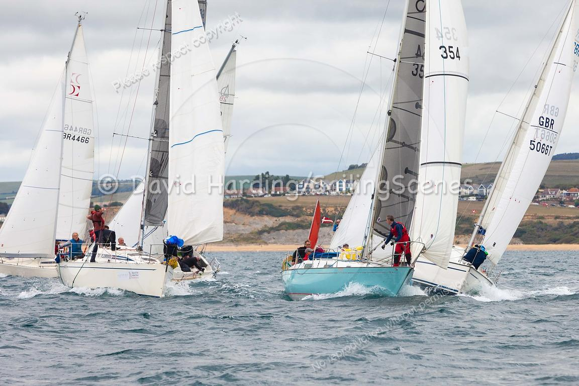 IRC 4 start, Weymouth Regatta 2018, 201809081105.