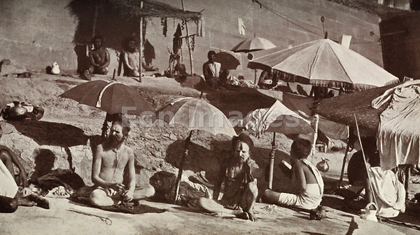 Indian sadhus at Benares