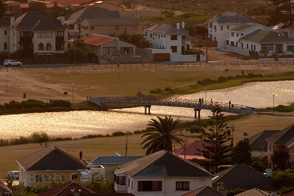 Morning light over Muizenberg and the Atlantic Ocean, Cape Peninsula, South Africa