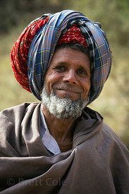 Goat herder looking the part in Amba village, Rajasthan, India