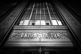 Union Station Chicago in Black and White