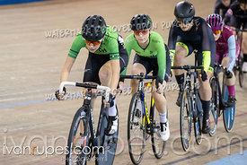 Elite/Junior Women Scratch Race. Ontario Track Championships, March 2, 2019