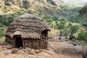 Traditional Tepith homstead on Mount Moroto in the heart of Karamoja, northern Uganda