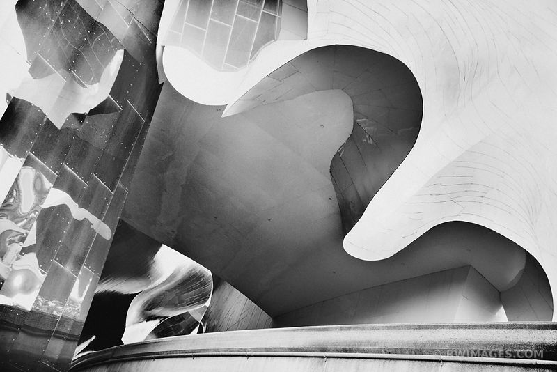 EXPERIENCE MUSIC PROJECT MUSEUM SEATTLE BLACK AND WHITE
